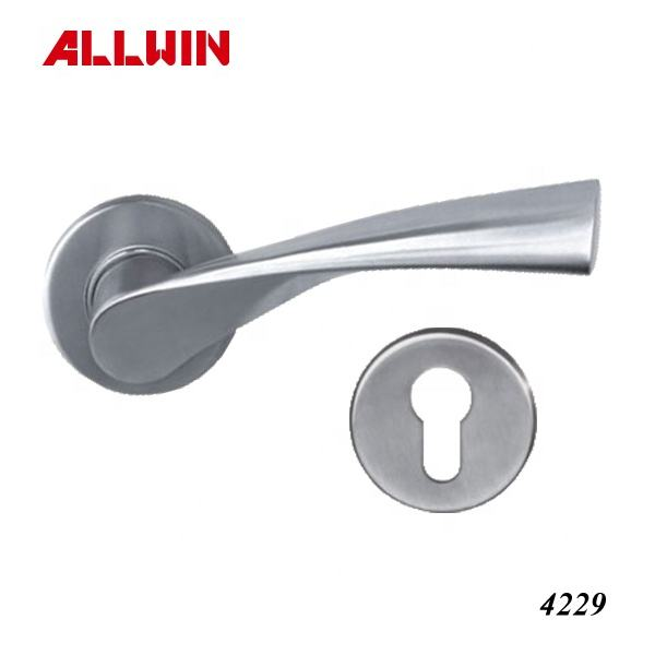 Stainless Steel Lever Handle set for wooden door
