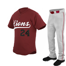 Newest style custom polyester brown baseball jersey uniform plain regular fit and top quality stitching baseball uniforms.