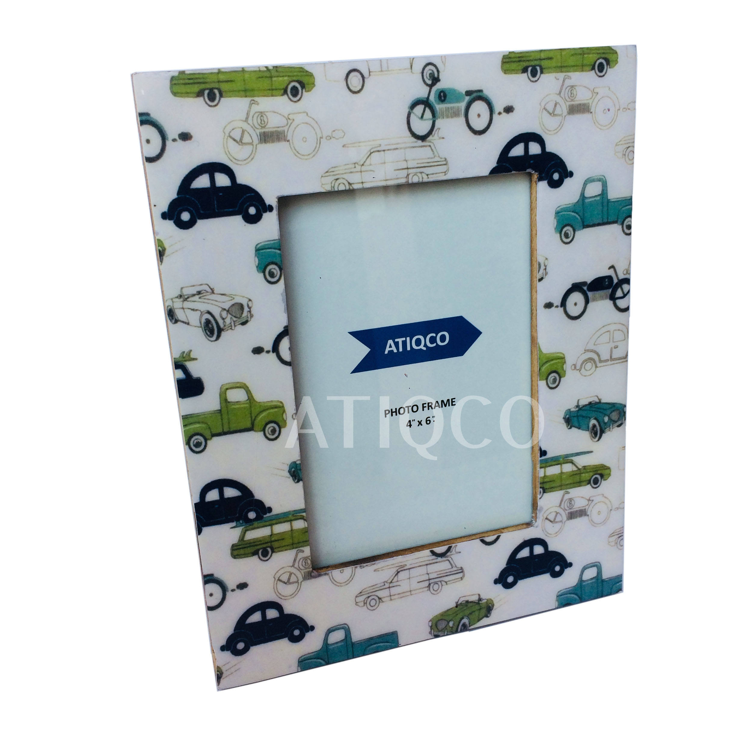 Car Design Wooden Photo Frame Digital Print