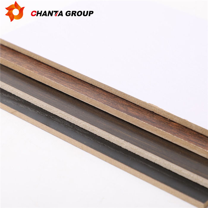 chanta logo white laminated melamine mdf board from factory