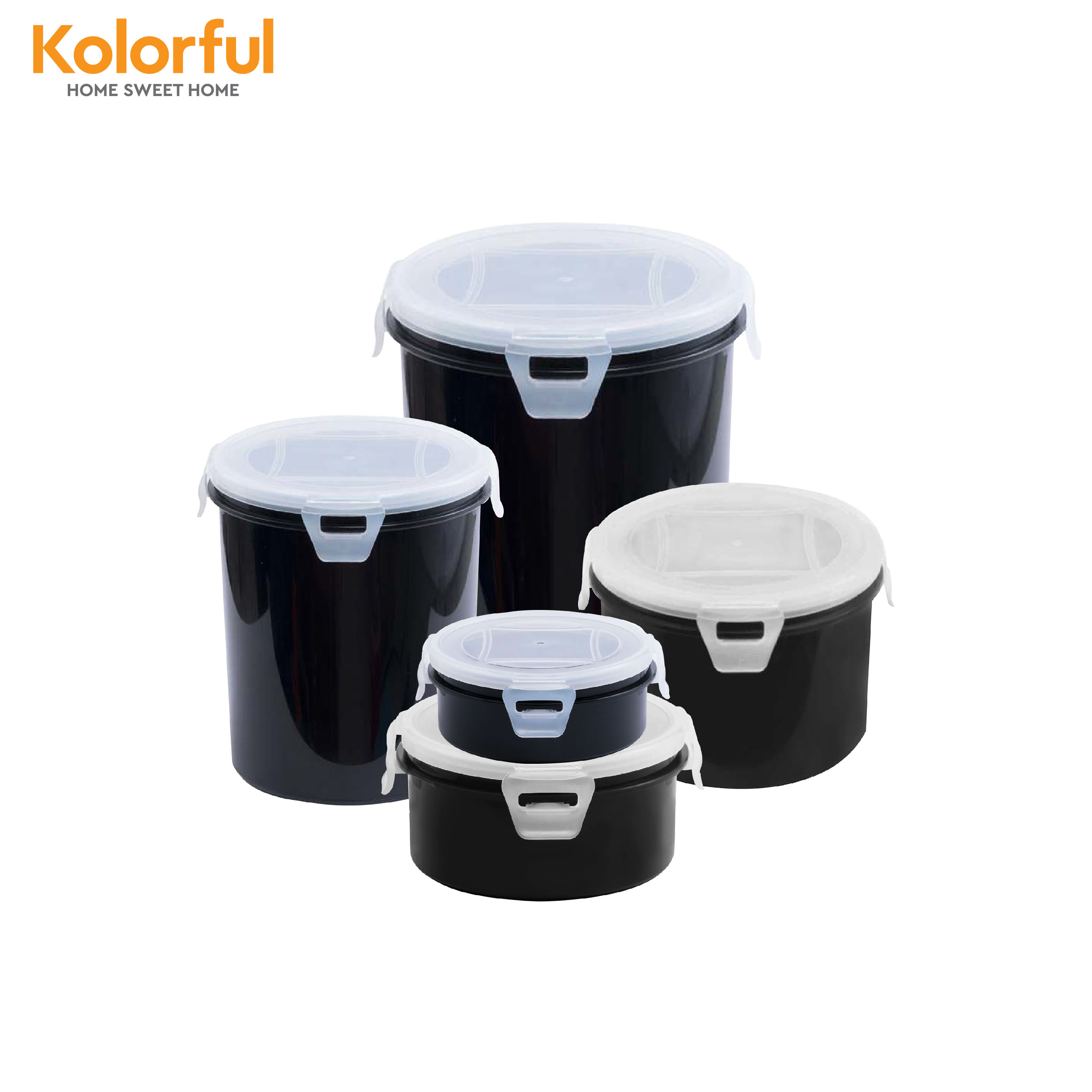 Safe and cheap plastic food container with roon silicon and airtight tid containing snack, dry food - model L941