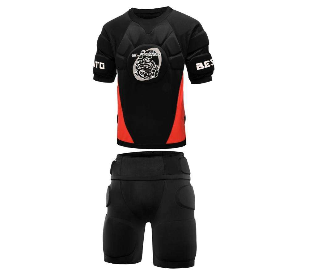 CUSTOM PADDED RUGBY PROTECTIVE JERSEY KIT, Rugby Football Wear