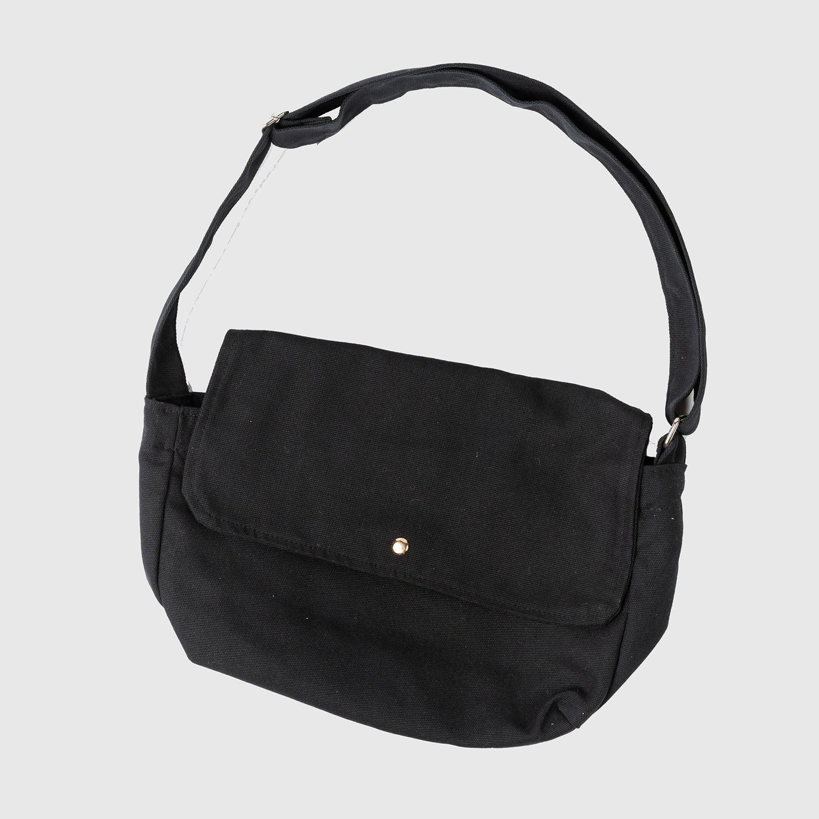 Unisex Black Crossbody Canvas Bags
