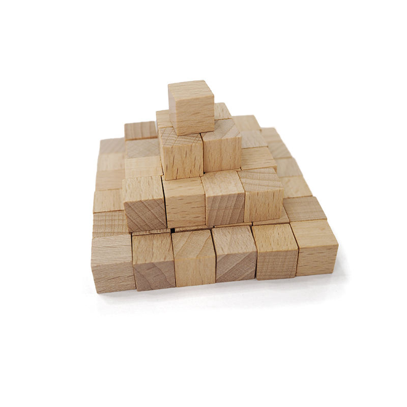 10mm TO 60mm Natural Wooden Blank Plain Dices Cubes Hardwood Six Sided Toy Game