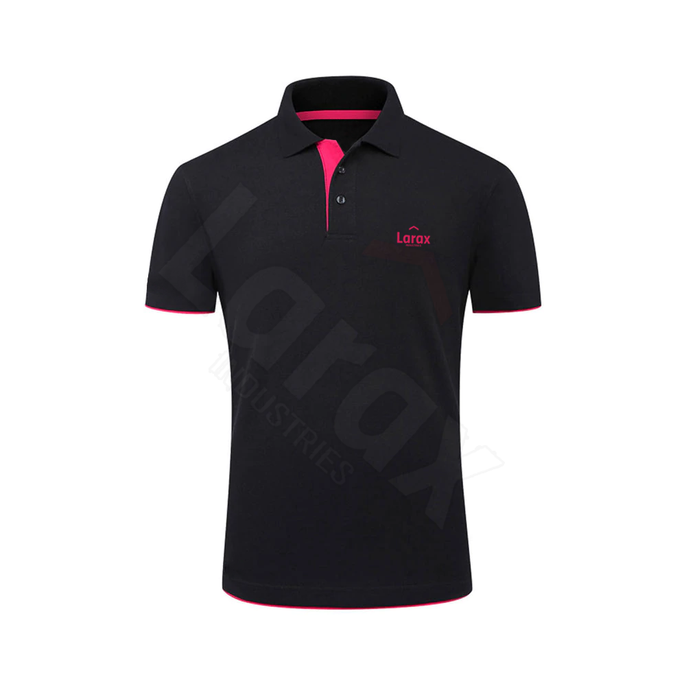 Top Sale Design Polo T Shirts For Men Black And Pink Color Men Polo T Shirt For Adults
