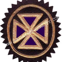 Masonic Regalia Badge ll Hand Embroidery ll Bullion Wire