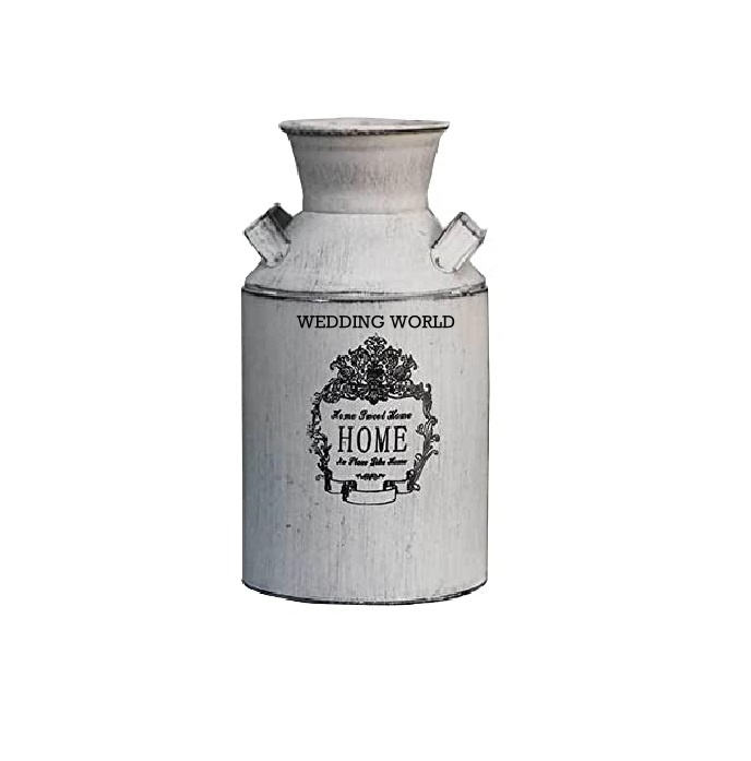 Wholesale Galvanized Milk Can Dairy Milk Can Antique Big Size Round Shape Metal Iron Milk Can