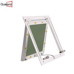 Gypsum board inlay removable door panel aluminum access wall panel