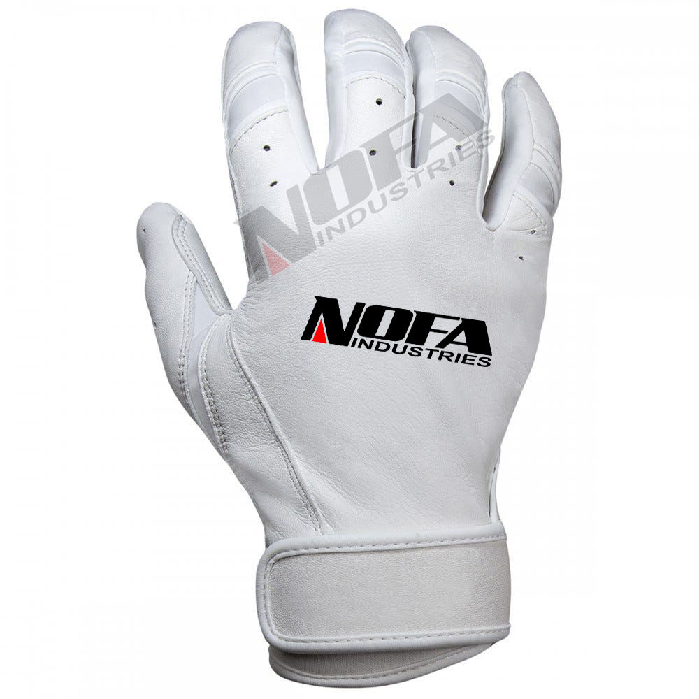 Premium Cabretta Leather Short Cuff Men's Batting Gloves Wholesale PU Leather Softball batting gloves new design