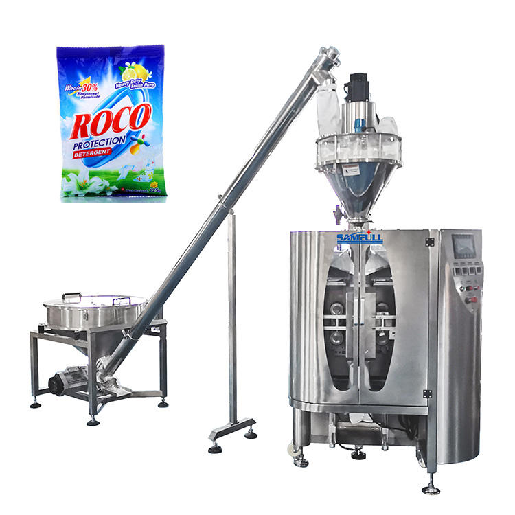 Automatic laundry/detergent/washing/soap powder filling packing machine vertical fill and seal machine
