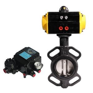 Double Acting Pneumatic Actuator Lug dan Wafer Butterfly Valve PN16 dengan Positioner