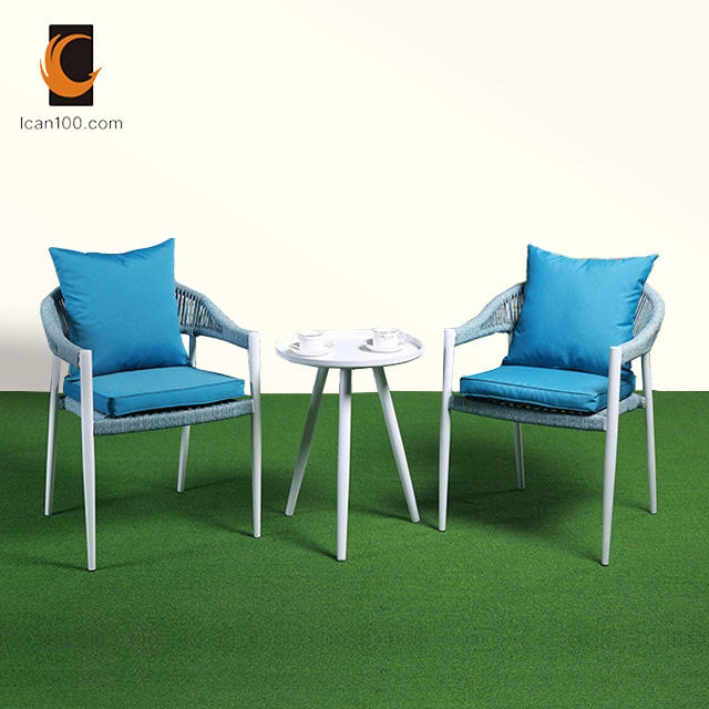 OEM & ODM Available Comfortable Rope India Hotel Wholesale Restaurant Coffee Shop Cafe Chairs And Tables Furniture
