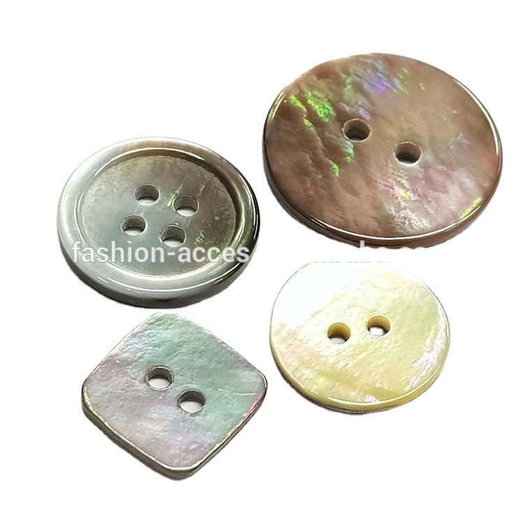 Wholesale rainbow natural mussel Shell Buttons For Clothes