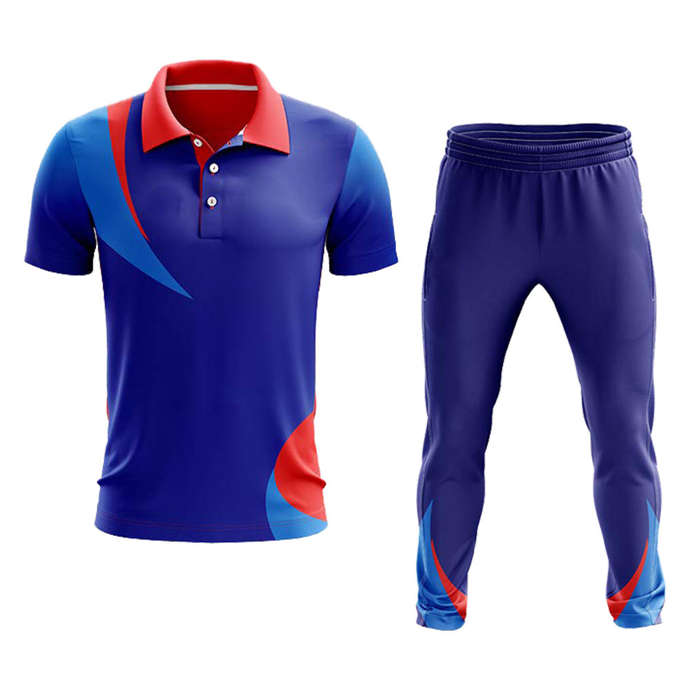 High Quality Sublimated Custom Cricket Uniforms With Brand Logo And Team Name