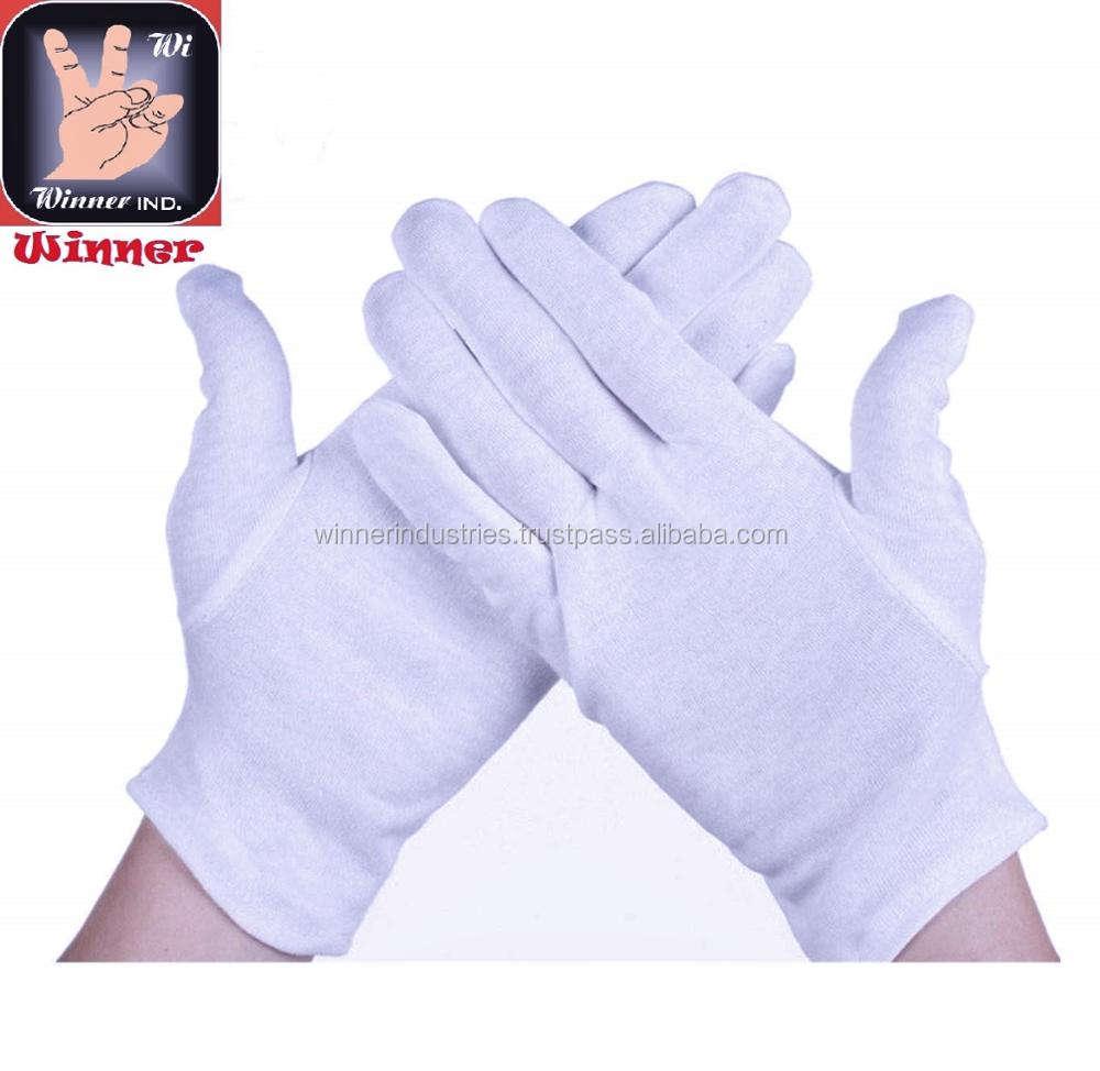 White Cotton Fancy Gloves