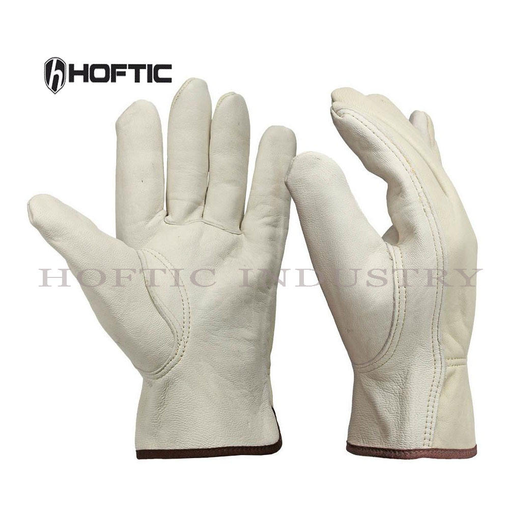 Premium Men's Full Leather Working Gloves