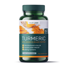Organic Turmeric Health Food Supplements Vitamins Round Premium Bottle Europe Private Label Nutrition Wholesale Diet Supplements