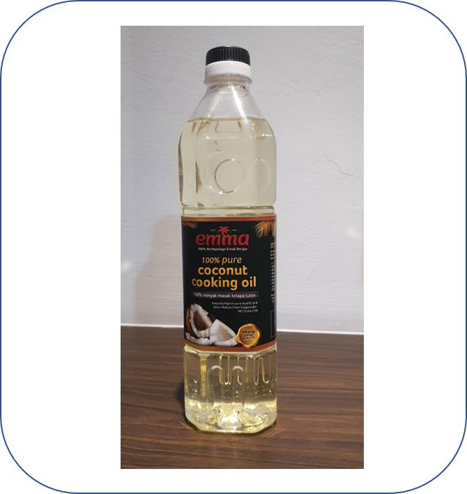 EMMA COCONUT COOKING OIL 1L REFINED COCONUT COOKING OIL WHOLESALE