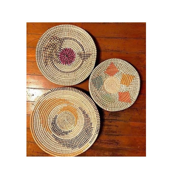 MUTILCOLOR AND DESIGNS WALL HANGING DECOR HOME DECOR SEAGRASS WALL HANGING PLATES DECOR