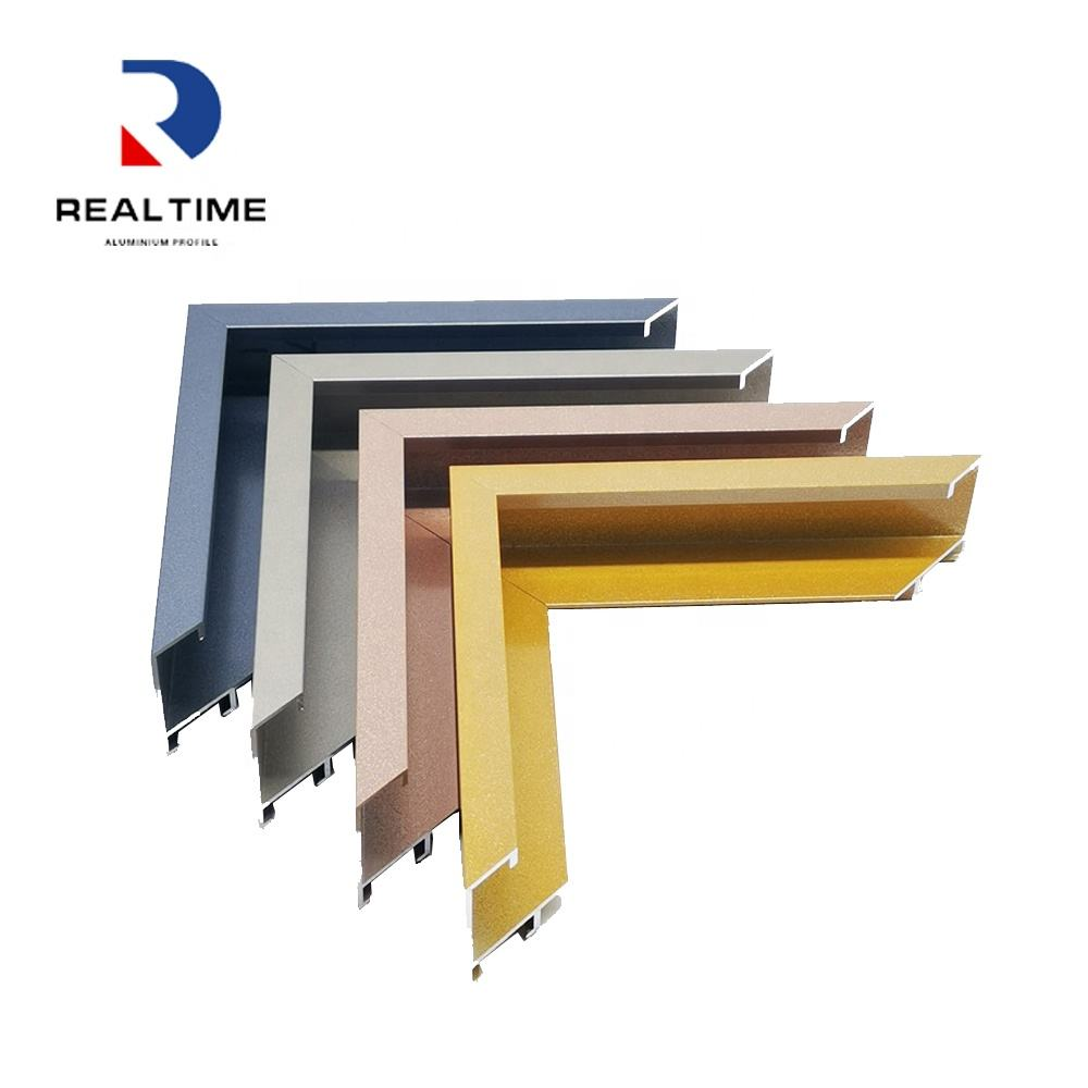 Brushed colorful extruded aluminum picture frame for aluminum photo framing system