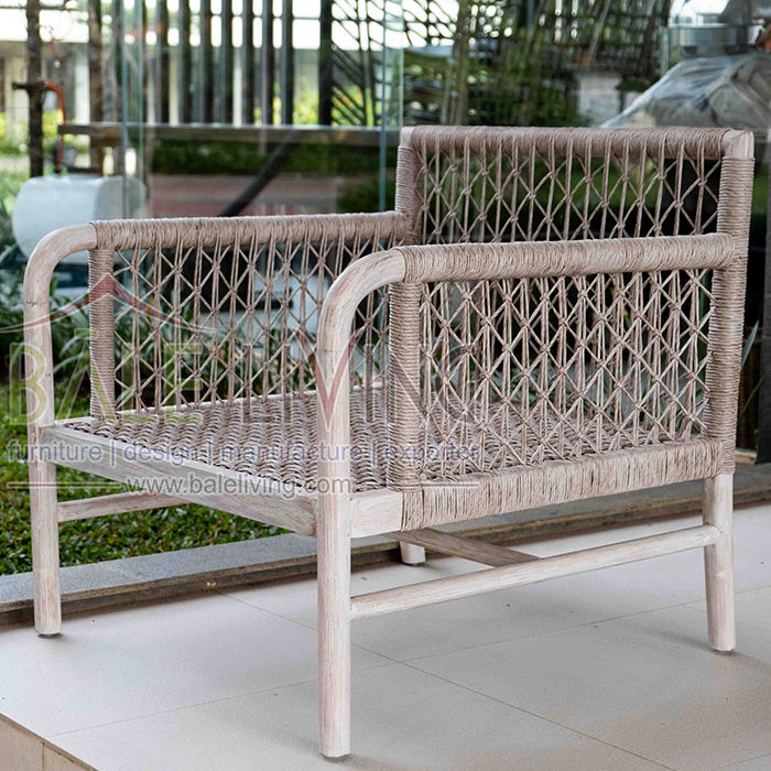 Indonesia manufactured Teak Wood Furniture Montecito Outdoor Lounge Chair For Garden Furniture