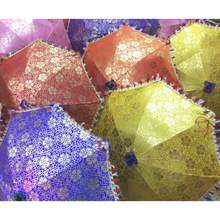 Indian Beach Umbrella Handmade Sun Parasol Handmade Decorative Patio Wedding Umbrella Designer Multi Color Umbrella