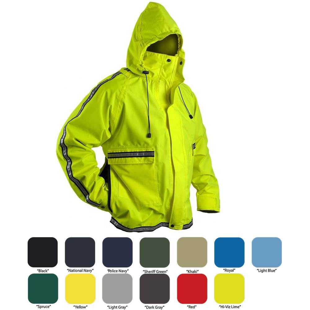 Apple Green Color Police Reflective Jacket