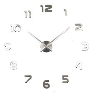 Big size 3D numbers DIY wall clock for wholesales