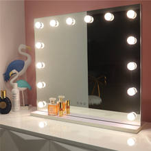 Lighted Hollywood Style LED Vanity Makeup Mirror Lights Kit with Light Bulbs