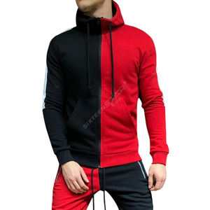 Mens Outfit Tracksuit Hoodie Set Two Pieces Jogger Suits /red and black tracksuits/ Sweatshirt Male Sweatsuit