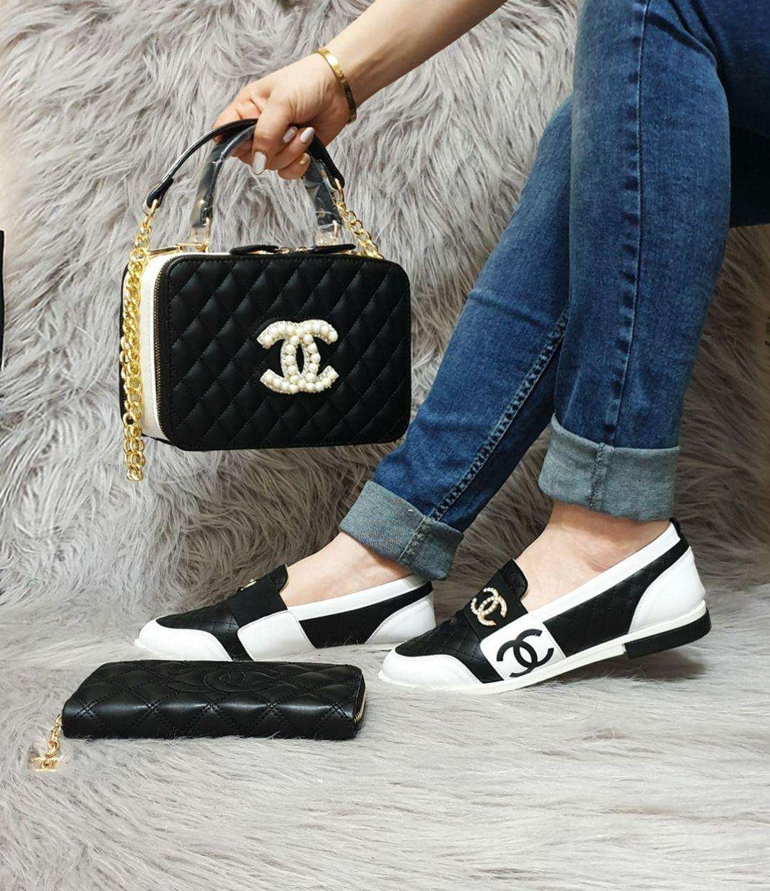 Made in Turkey High Quality Brand Handbags and Shoes Set
