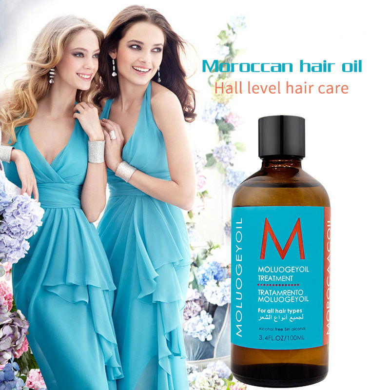 OEM/ODM free sample private label good price hair treatment moroccan argan oil for hair beautiful girls