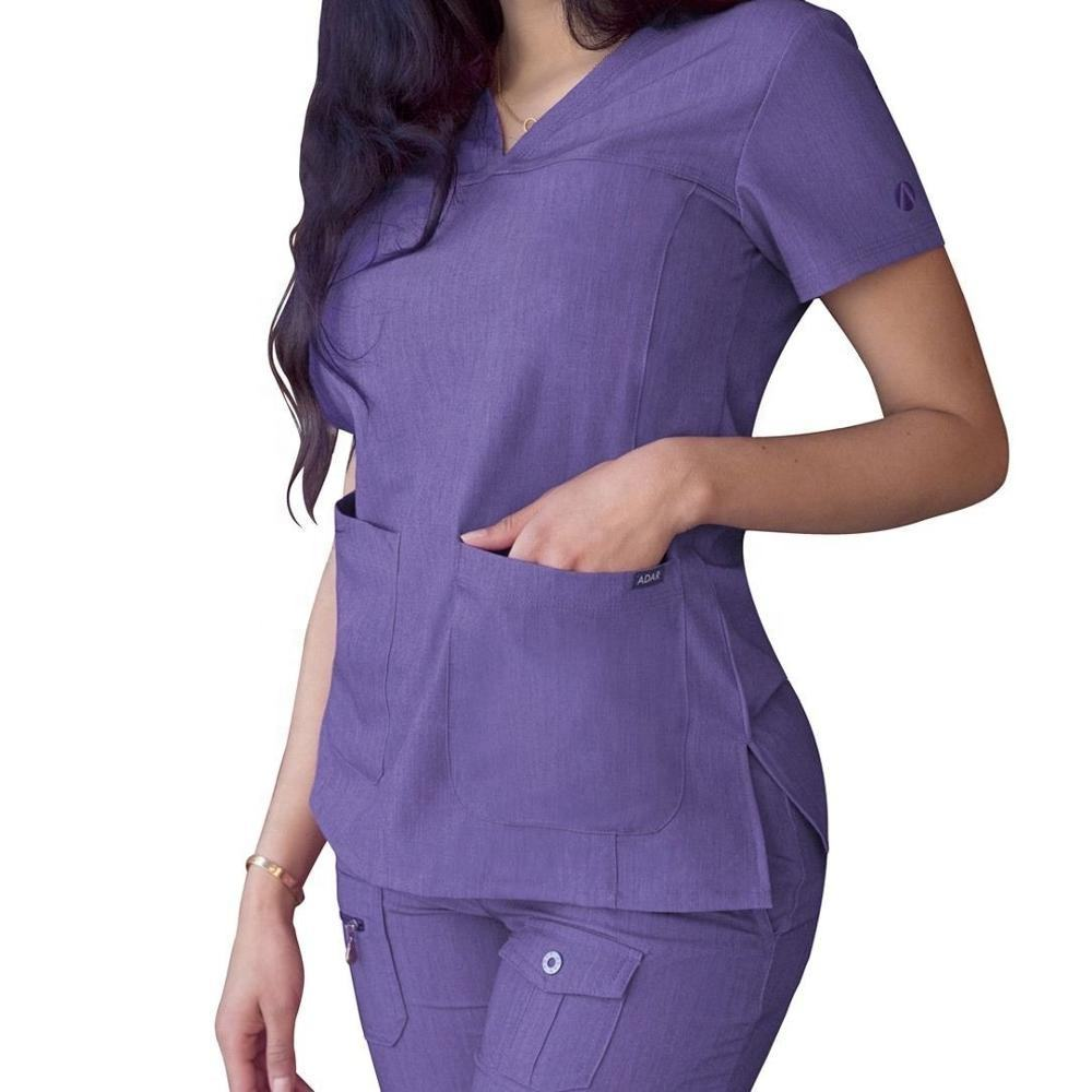 Cherokee Fashion Uniform Scrubs Suit Wholesale Print Hospital Spandex Gown Nurse Medical Stretch Scrubs