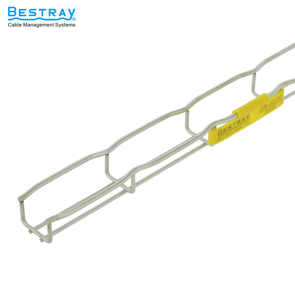 High quality Steel Wire Mesh Cable Tray Perforated Ladder Type Cable Tray CM30 Series 30H