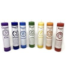 Meditation Healing Alignment 7 Chakra Color and Scented Candles (Pack for 7)