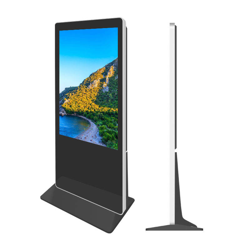 Stand Alone Lcd Digital Signage 55 Inch Floor Stand LCD Advertising Player Touch Screen Ad Player