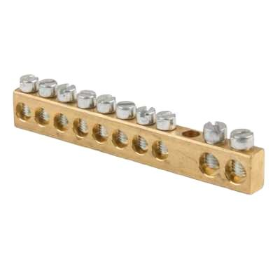 Hot Sale Screw Connecting Brass Terminal Block Neutral Link Connector At Cheaper Price With High Quality