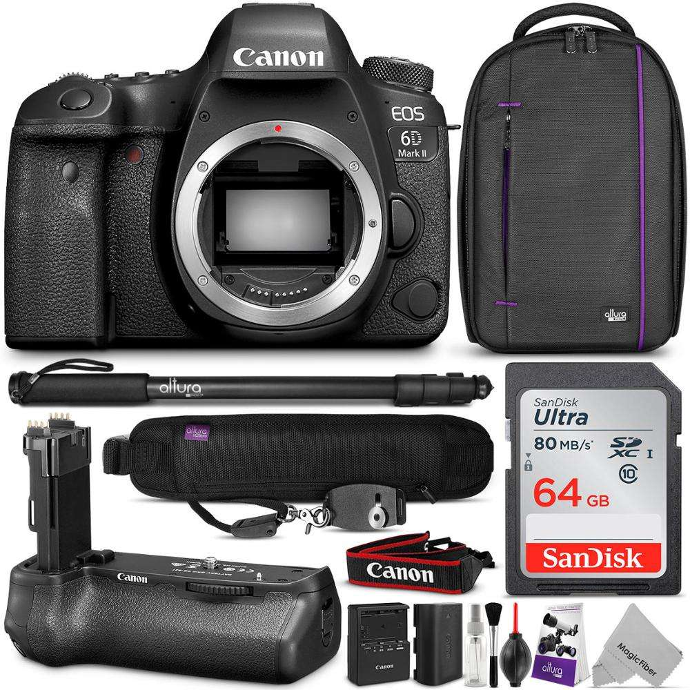 Wholesales For Canons-- EOS 6D Mark II DSLR 26.2MP Digital Camera with Lens And Carry Case