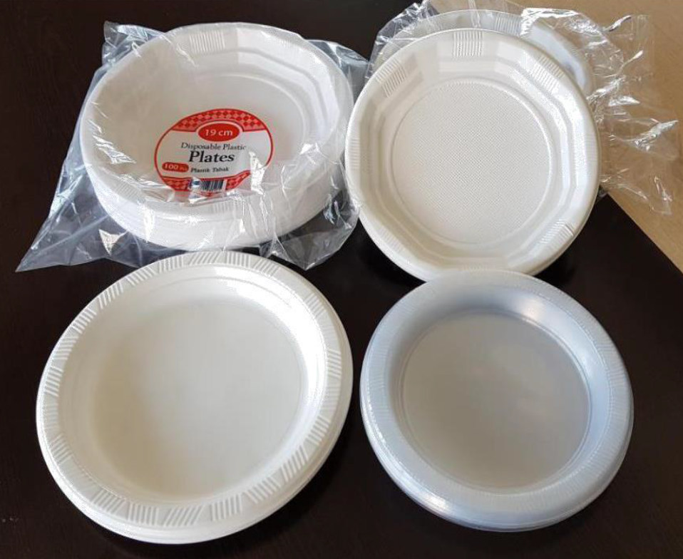 Disposable Plastic PE / PS Plates 6 inch to 10 inch disposable plates from Turkey