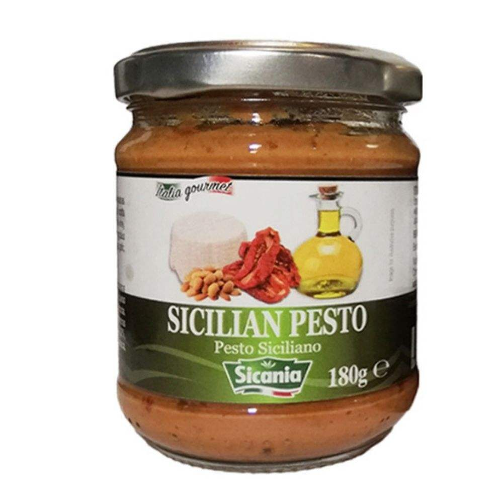 Best Quality Sicilian Pesto Dried Tomato with Ricotta Cheese and Eggplants for Pasta