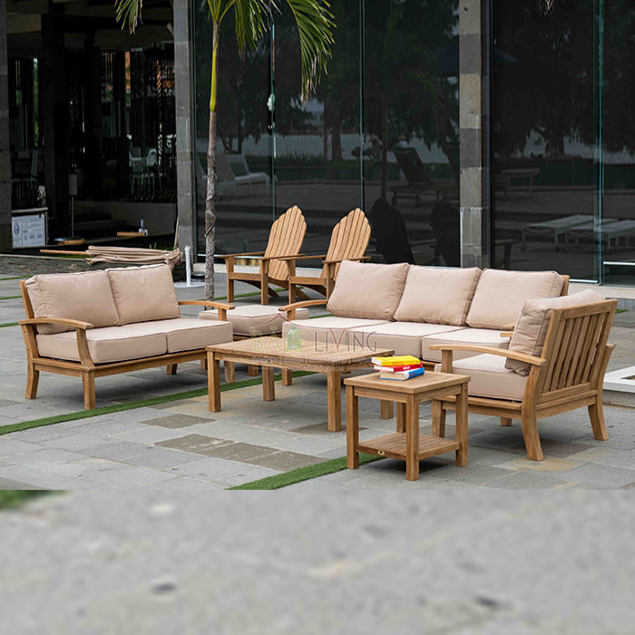 Indonesia Furniture Manufacture Natural Teak Wood Sofa Seat Used Living Room Furniture