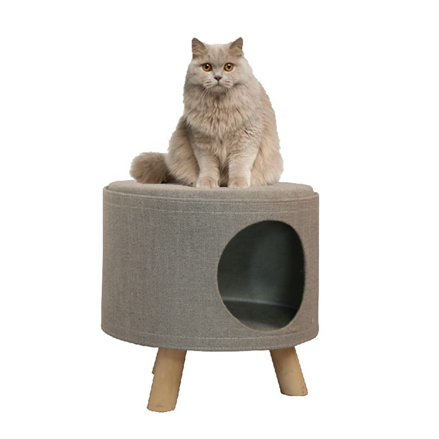Wholesale Eco-friendly Pet Furniture Small Pets Cave Nest Cat Ottoman Stool