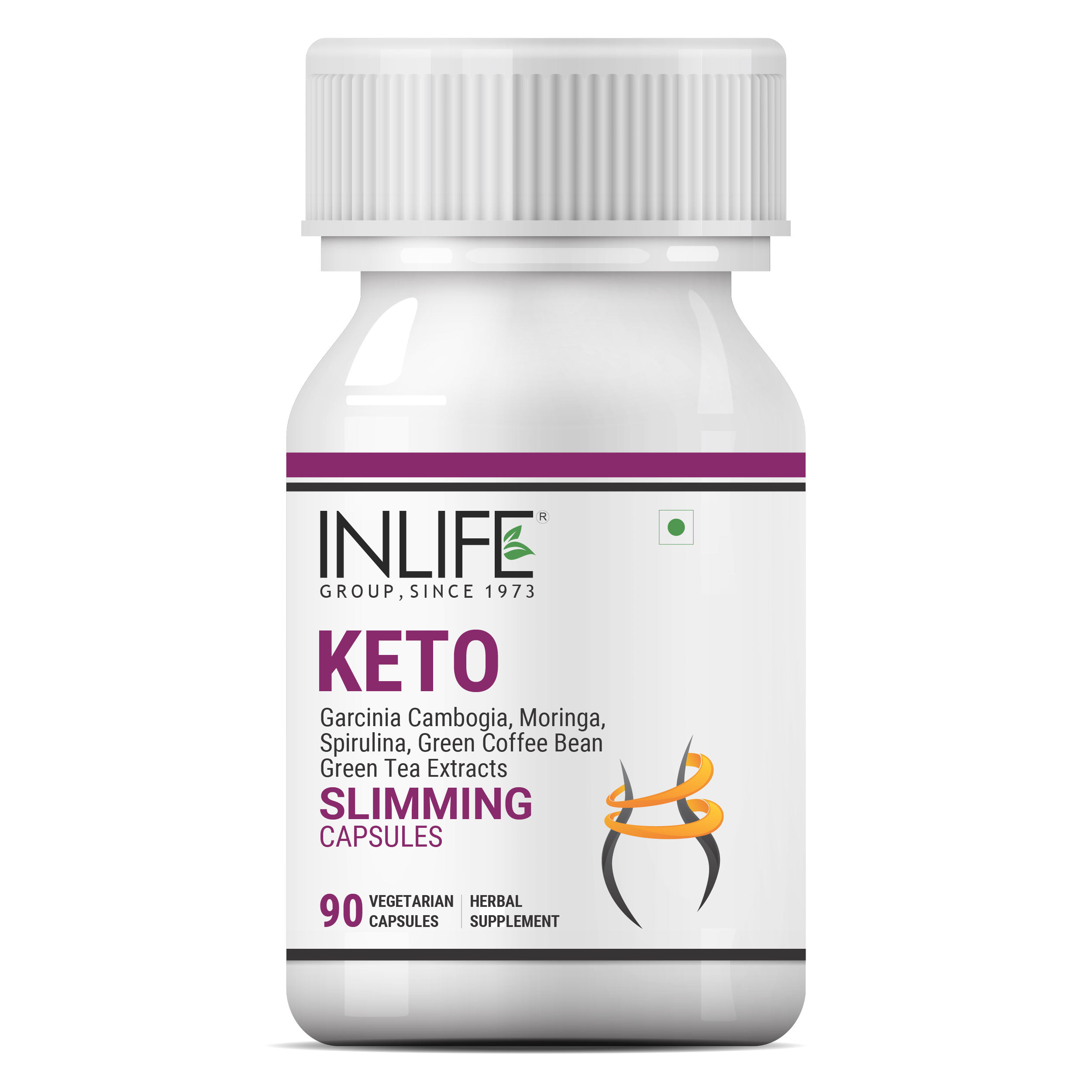 INLIFE Keto Slimming Weight Loss Diet Pills Supplement - 90 Vegetarian Capsules