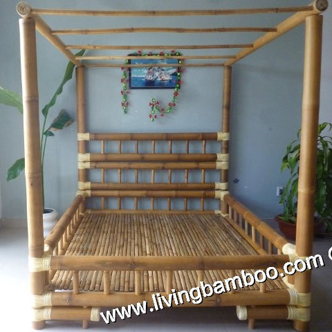 CABINET BAMBOO BED - INDOOR FURNITURE - BAMBOO FURNITURE