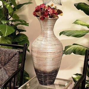 Best selling organic spun bamboo vase, Eco-friendly natural flower vase, Decorative Accent Vase
