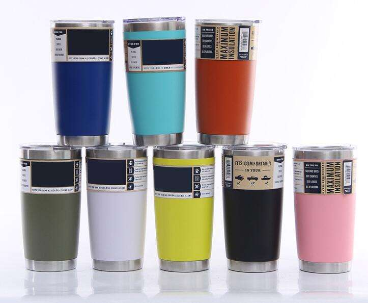 20 oz 18/8 Double Wall Stainless Steel Insulated Water & Coffee Cup Tumbler Vacuum Travel Flask