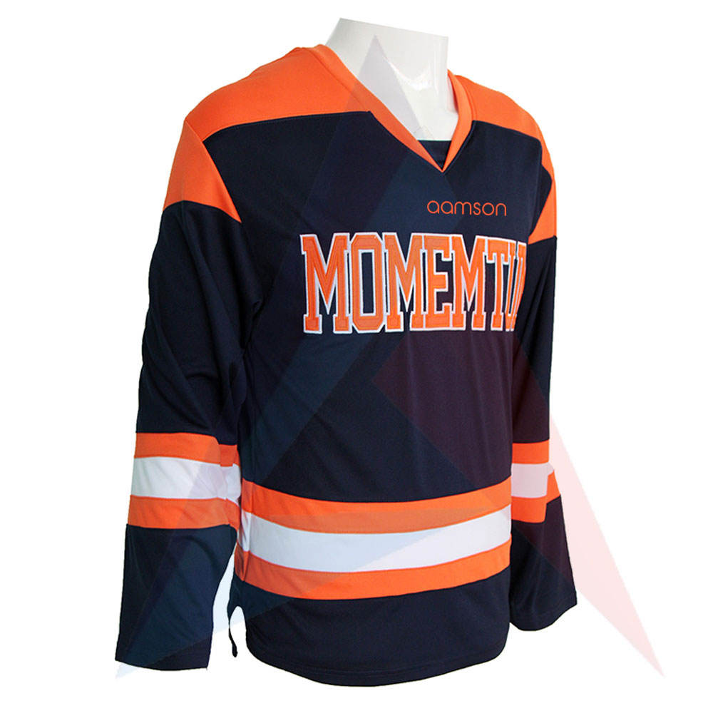 Breathable Quick Dry Soft Fabric Ice Hockey Jersey Custom Color Full Sleeves Youth Ice Hokey Jersey