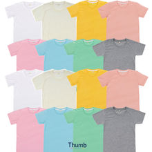 Plain Polyester Pastel Color T shirt for Sublimation Printing Made in Thailand