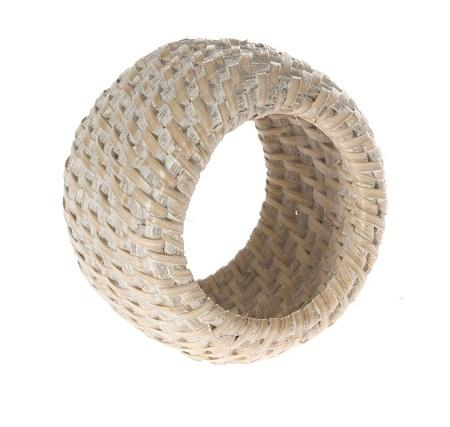 Rattan leaf napkin ring
