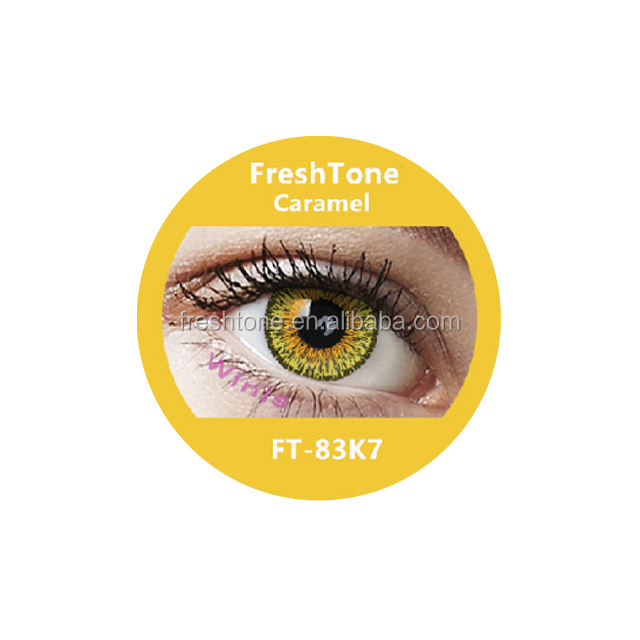 FreshTone Eye-to-eye Caramel FT- 83K7 15mm Yearly Korean cosmetic contact lens